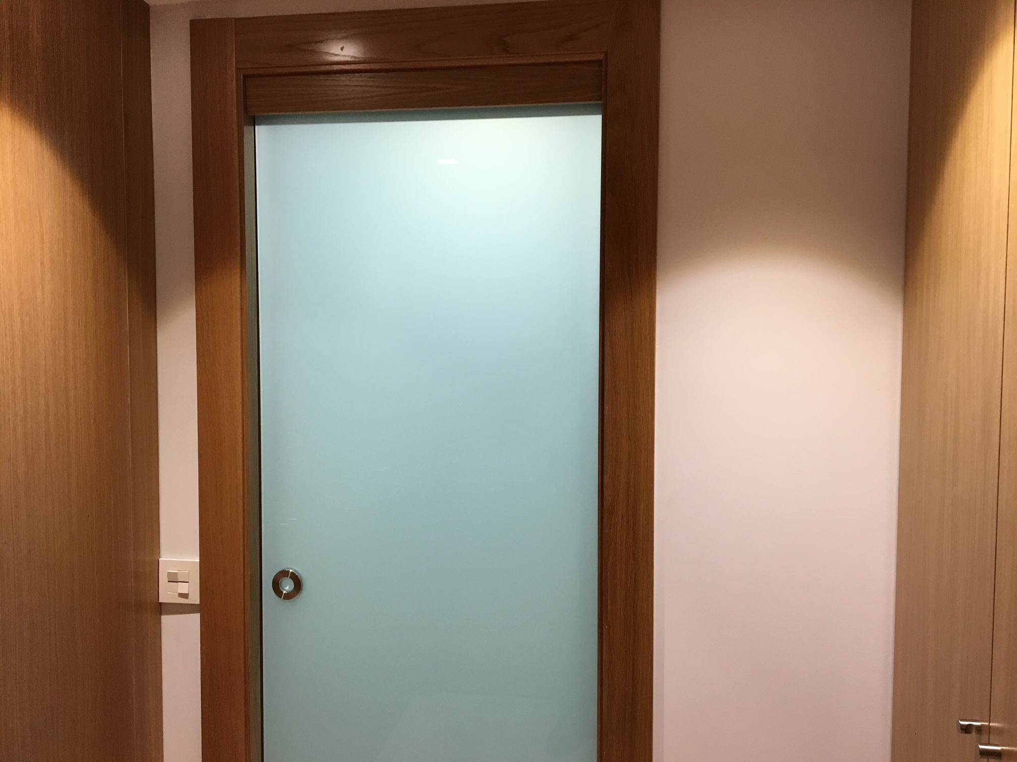 Puerta de cristal para ba o - Puertas de entrada con cristal ...