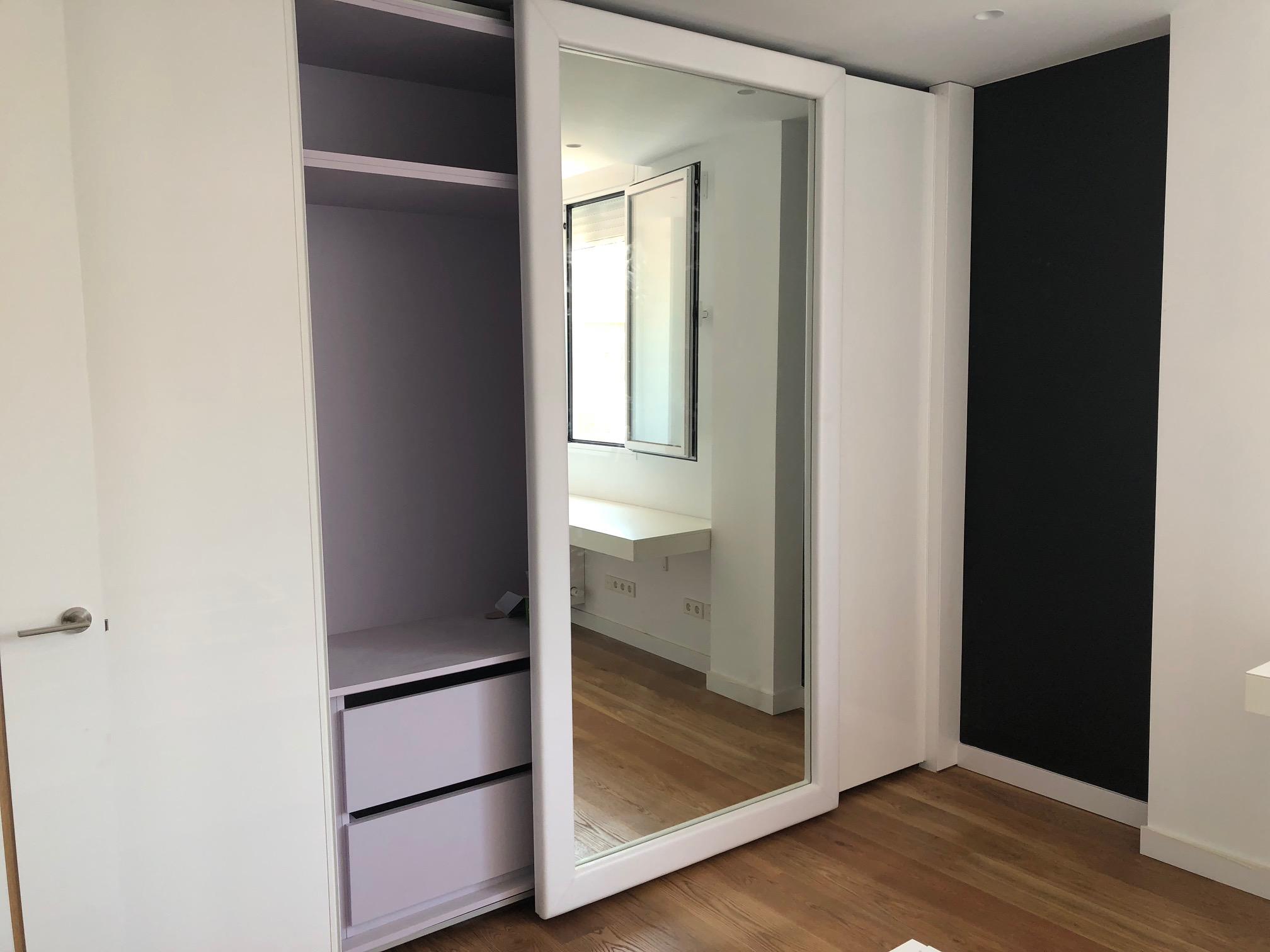 espejo en armario corredera